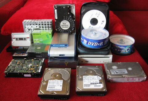 From floppies to hard-drives, from tapes to DVD\'s...