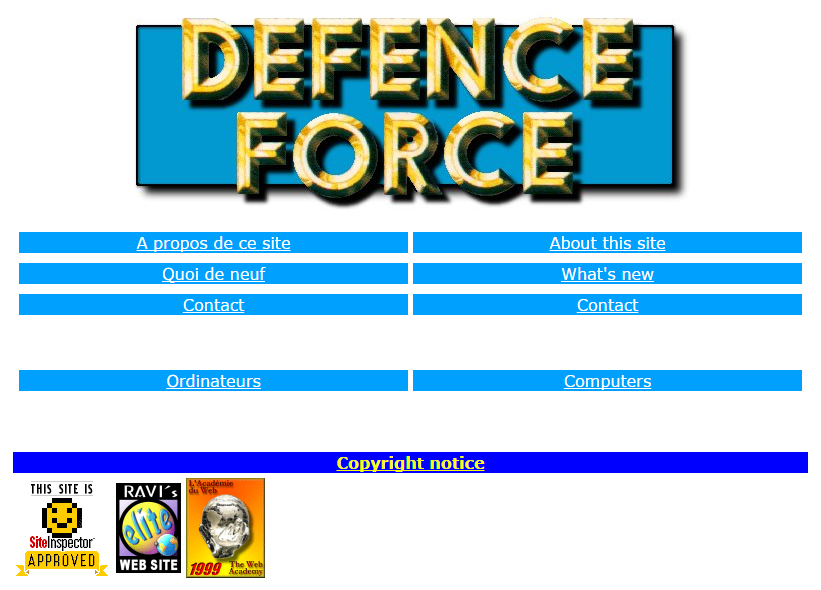 http://www.defence-force.org (1999)